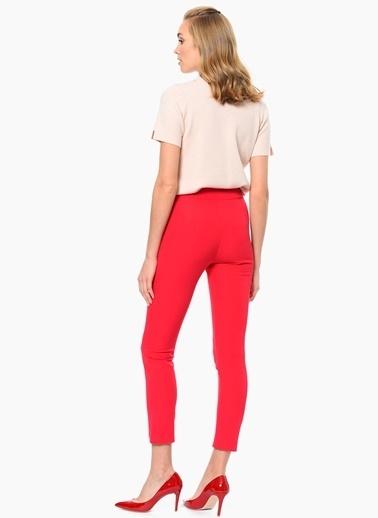 NetWork Slim Fit Pantolon Fuşya